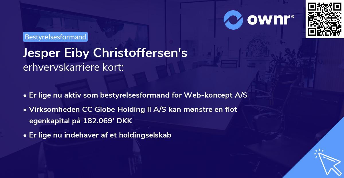 Jesper Eiby Christoffersen's erhvervskarriere kort