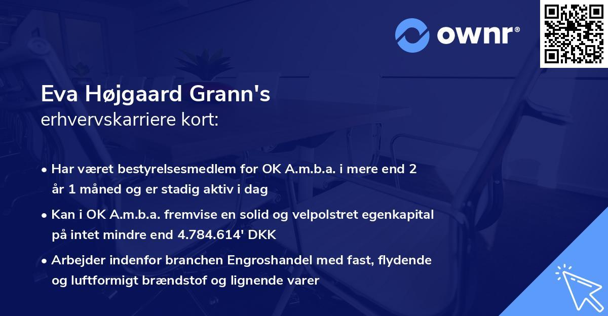 Eva Højgaard Grann's erhvervskarriere kort