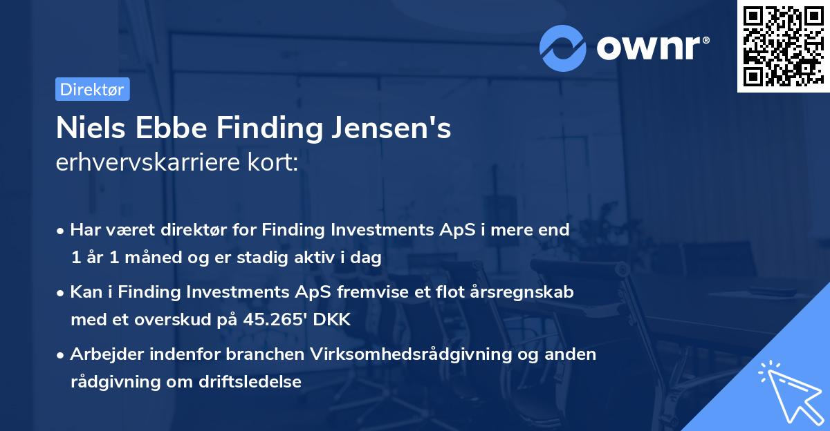 Niels Ebbe Finding Jensen's erhvervskarriere kort