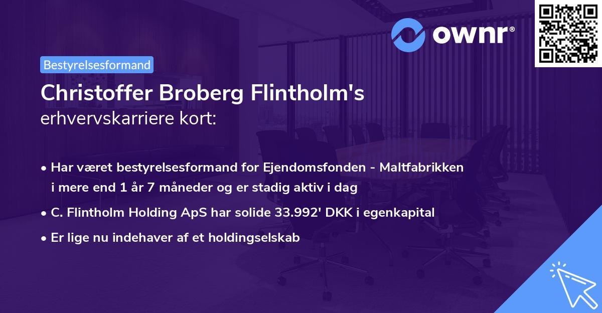 Christoffer Broberg Flintholm's erhvervskarriere kort
