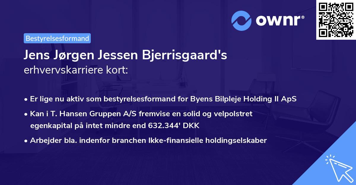 Jens Jørgen Jessen Bjerrisgaard's erhvervskarriere kort