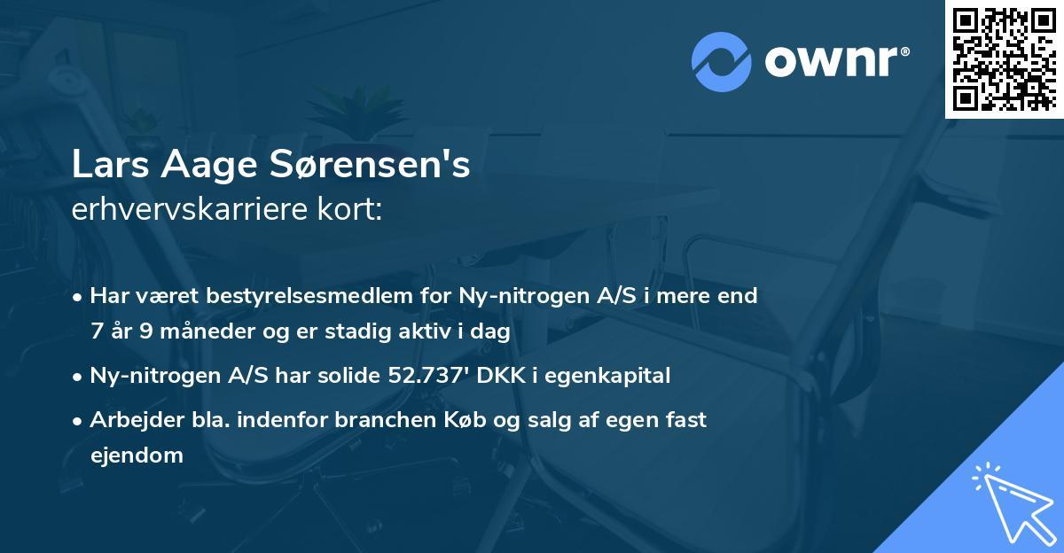 Lars Aage Sørensen's erhvervskarriere kort