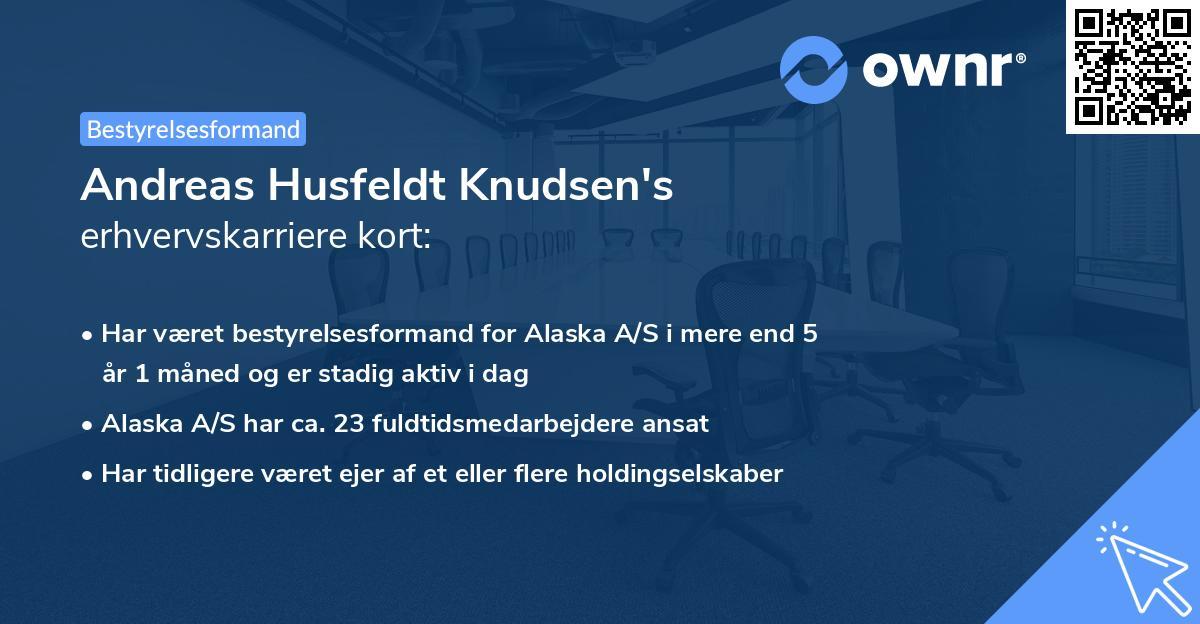 Andreas Husfeldt Knudsen's erhvervskarriere kort