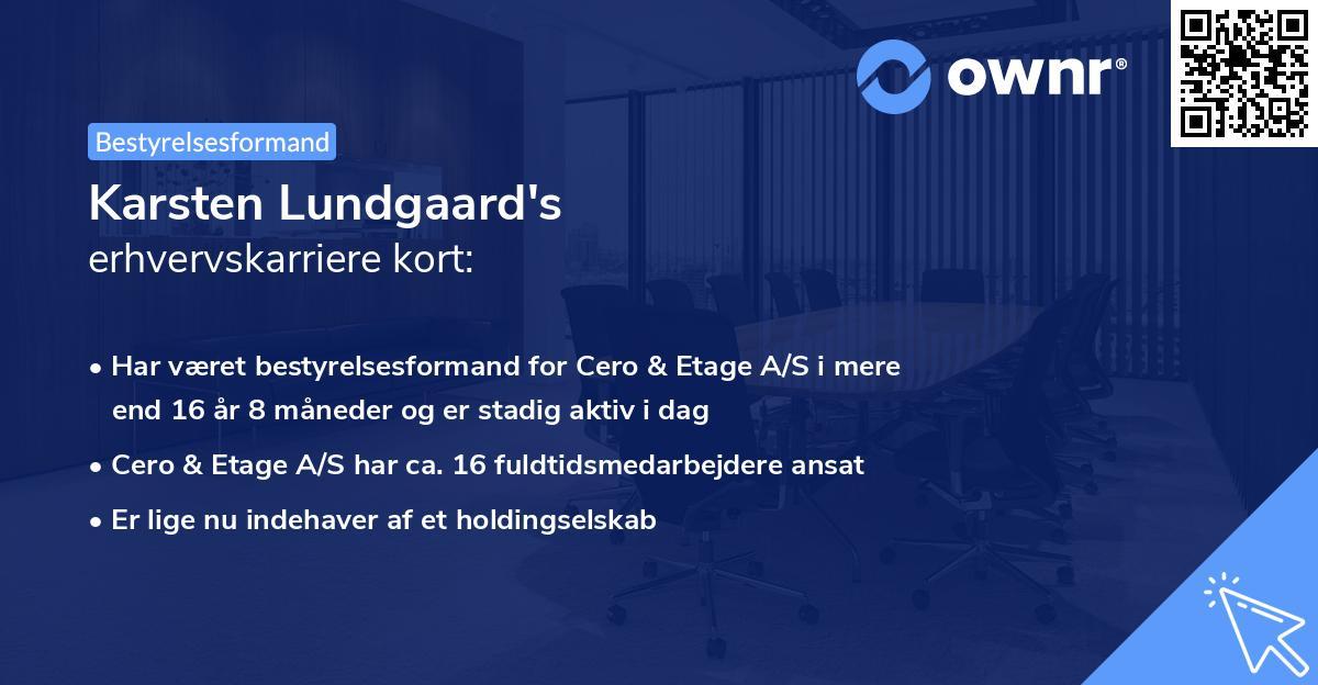 Karsten Lundgaard's erhvervskarriere kort