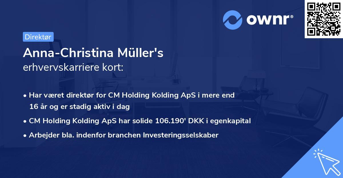 Anna-Christina Müller's erhvervskarriere kort
