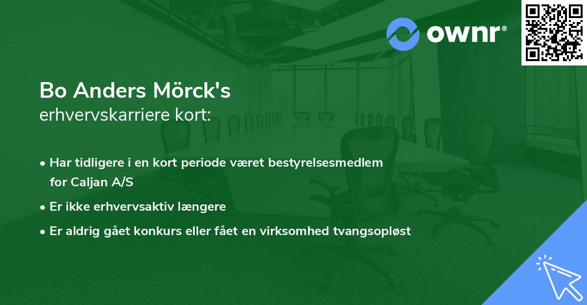 Bo Anders Mörck's erhvervskarriere kort