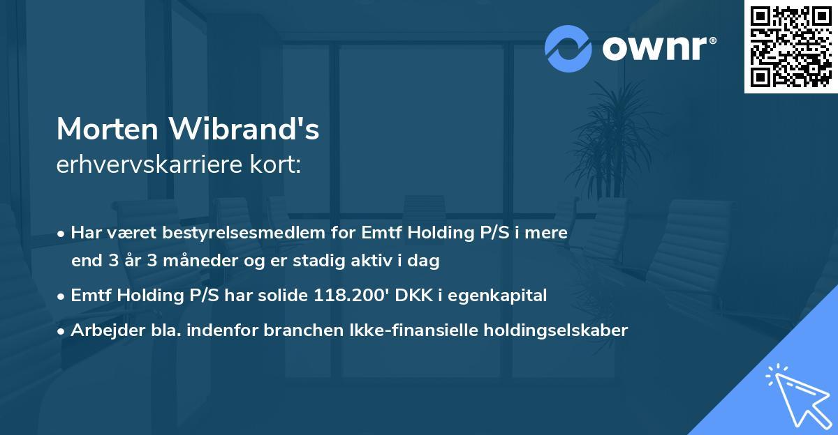 Morten Wibrand's erhvervskarriere kort