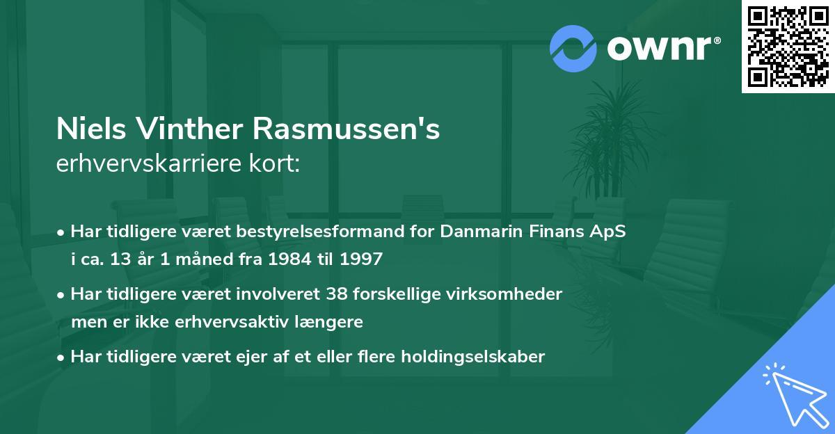 Niels Vinther Rasmussen's erhvervskarriere kort
