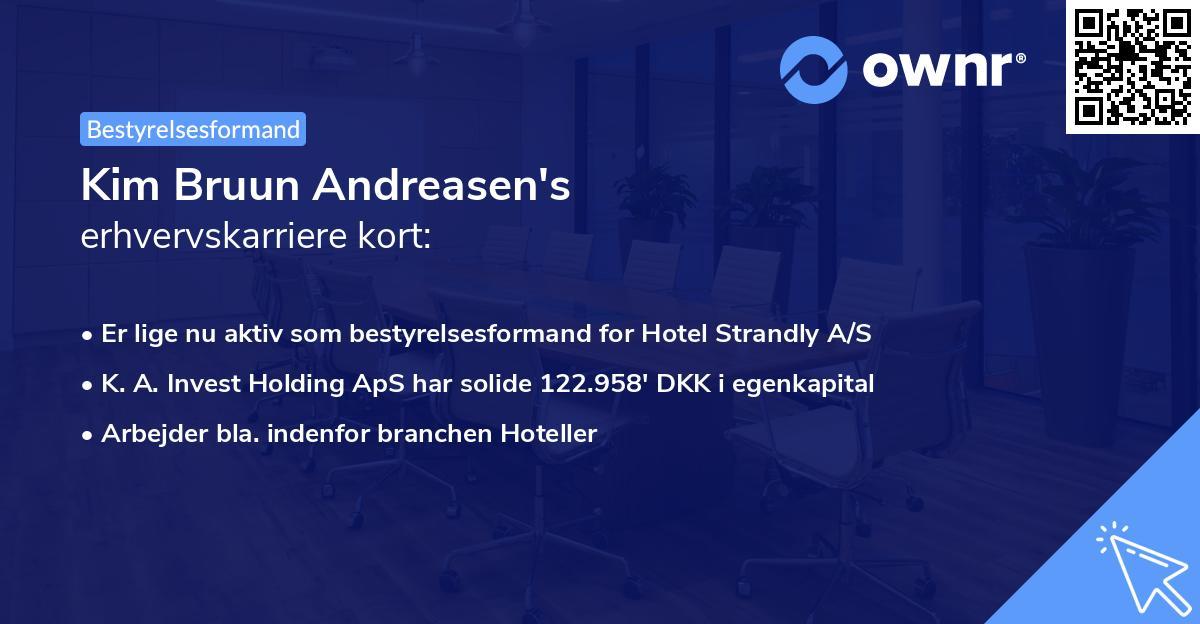 Kim Bruun Andreasen's erhvervskarriere kort