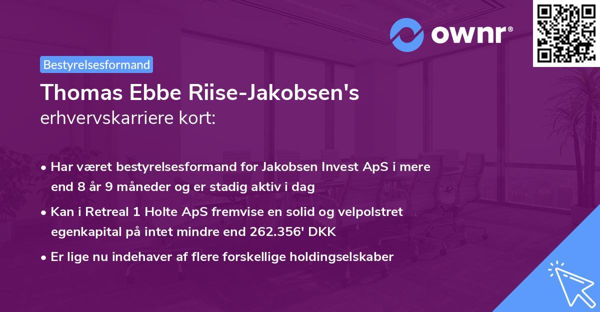Thomas Ebbe Riise-Jakobsen's erhvervskarriere kort