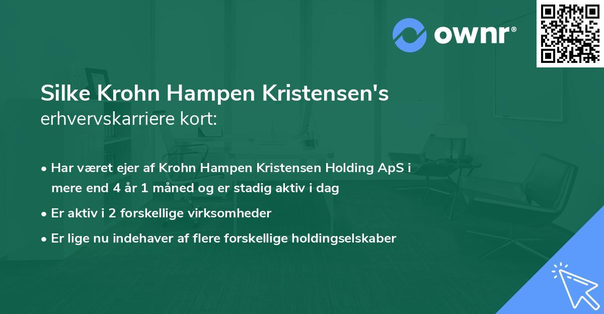 Silke Krohn Hampen Kristensen's erhvervskarriere kort