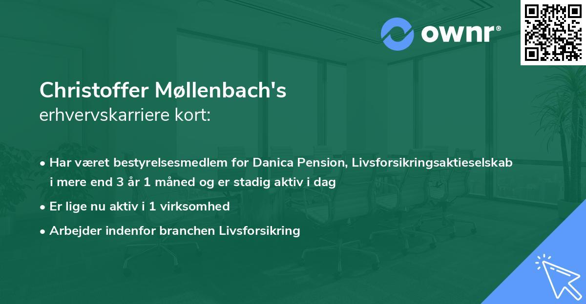 Christoffer Møllenbach's erhvervskarriere kort
