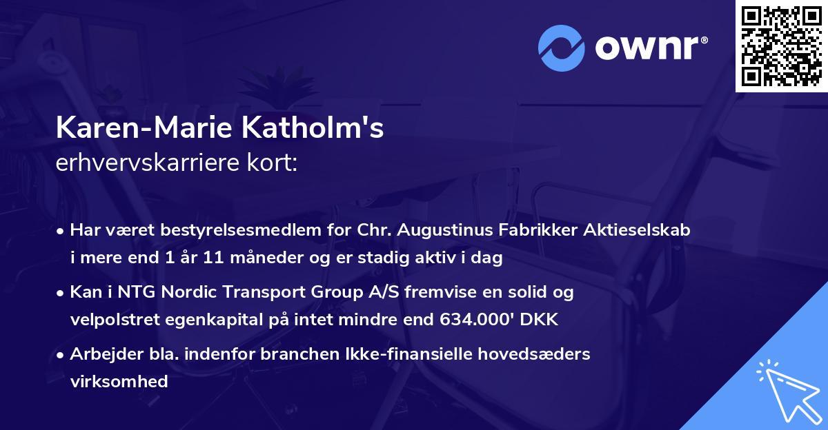 Karen-Marie Katholm's erhvervskarriere kort