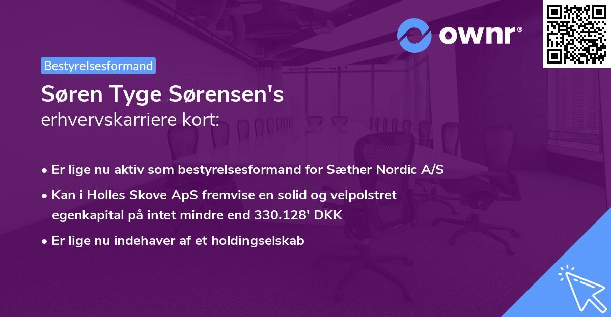 Søren Tyge Sørensen's erhvervskarriere kort