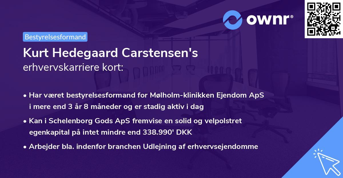 Kurt Hedegaard Carstensen's erhvervskarriere kort
