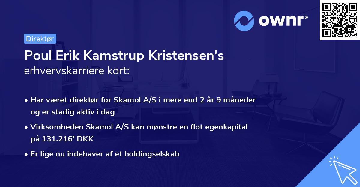 Poul Erik Kamstrup Kristensen's erhvervskarriere kort