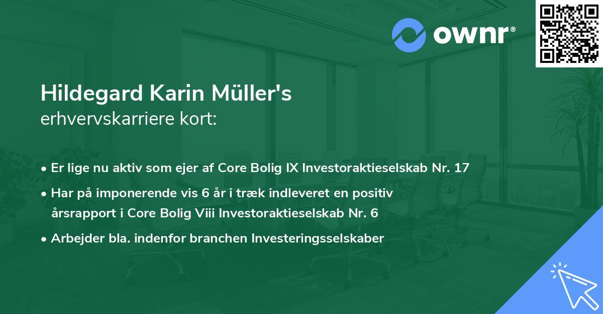 Hildegard Karin Müller's erhvervskarriere kort