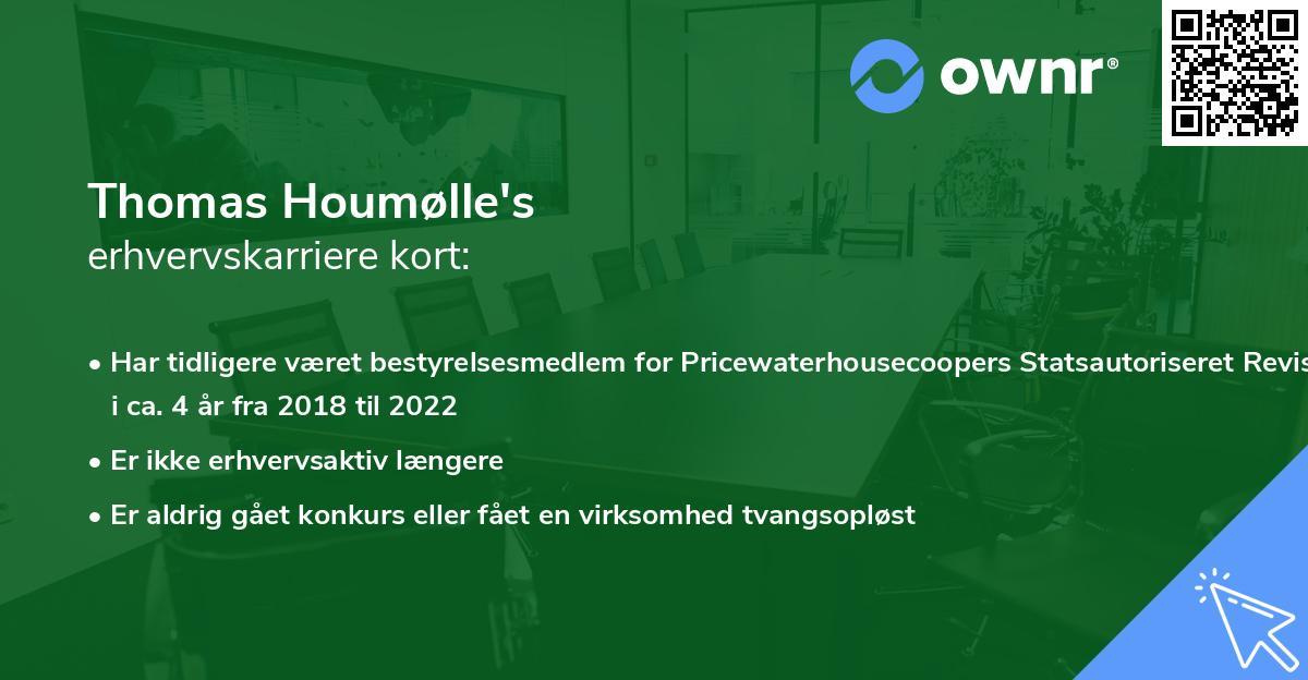 Thomas Houmølle's erhvervskarriere kort