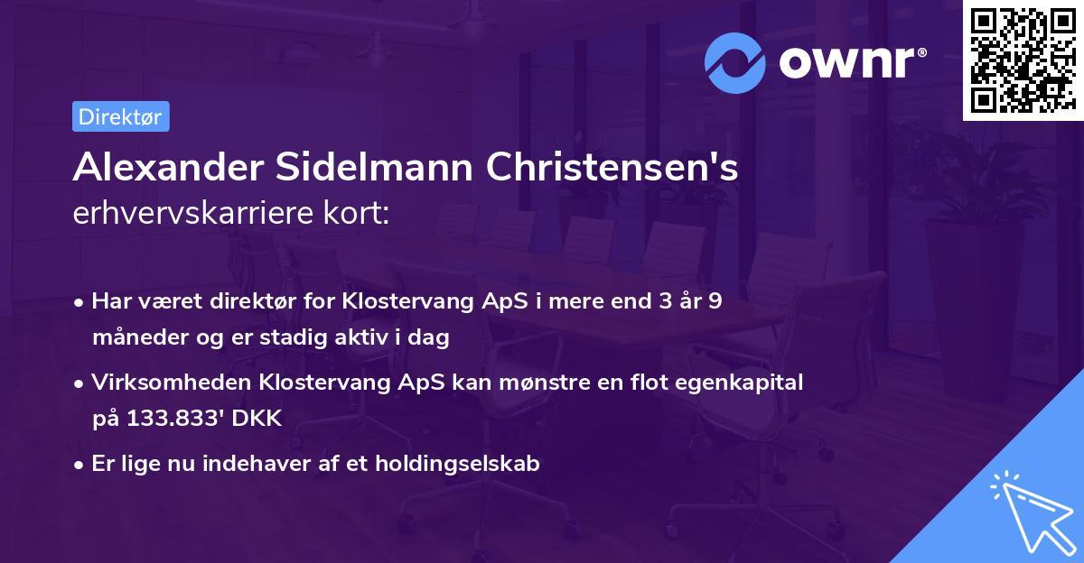 Alexander Sidelmann Christensen's erhvervskarriere kort