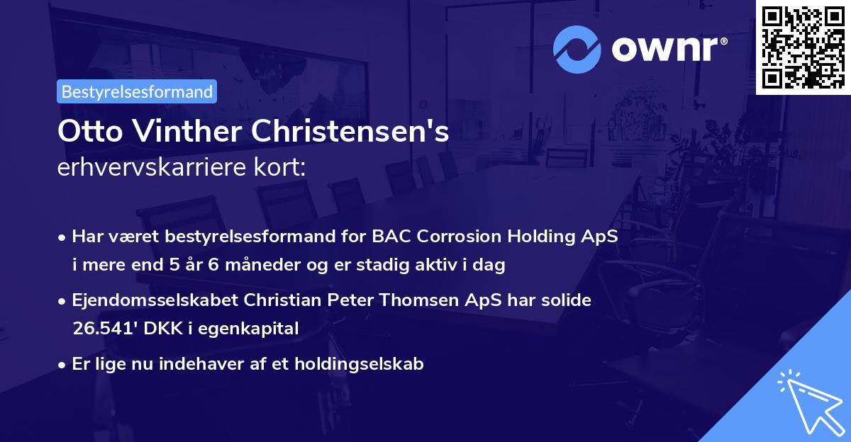 Otto Vinther Christensen's erhvervskarriere kort