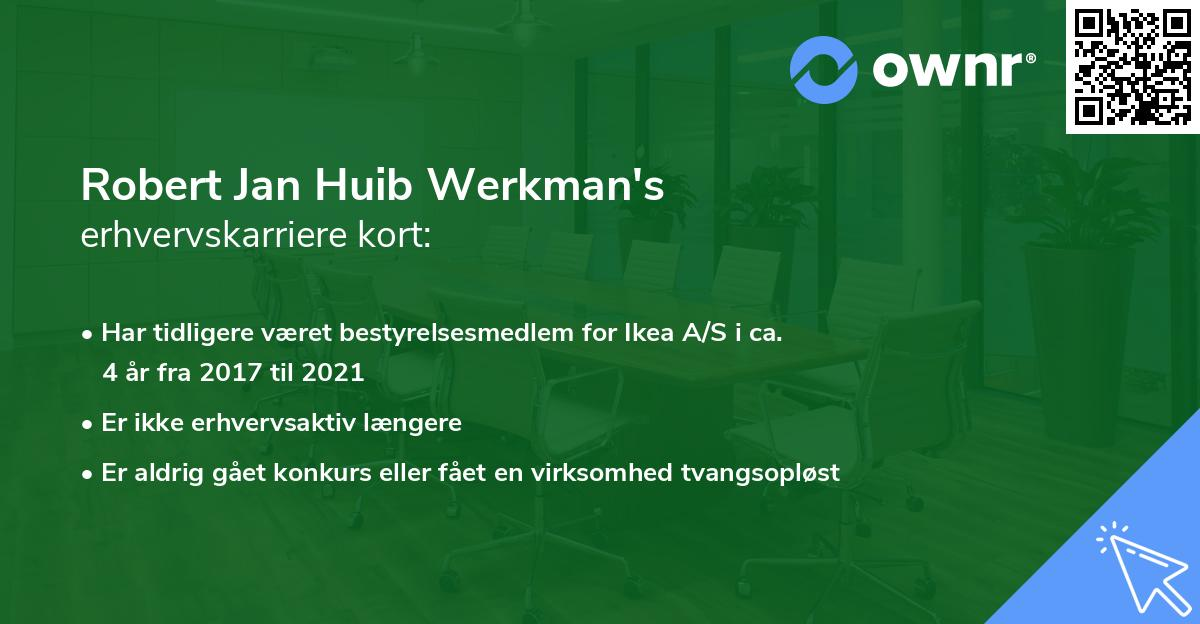 Robert Jan Huib Werkman's erhvervskarriere kort